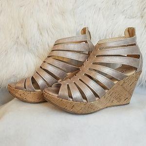 Cordani Cork Wedge Sandals
